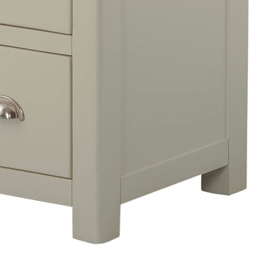 The Padstow Grey Large Six Drawer Chest of Drawers - Close Up of Feet