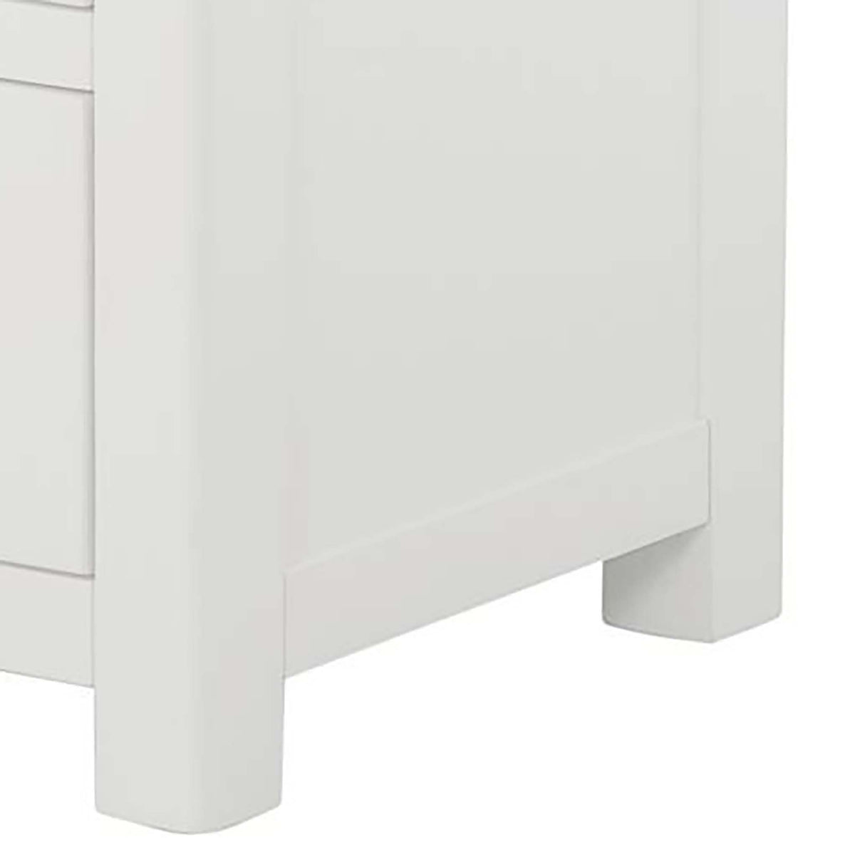 The Padstow White Chest of 6 Drawers - Close Up of Feet