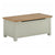 The Padstow Grey Wooden Ottoman Storage Chest from Roseland Furniture