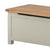 The Padstow Grey Wooden Ottoman Storage Chest - Close Up
