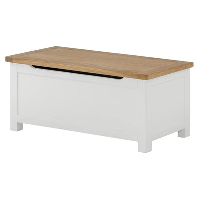 The Padstow White Wooden Blanket Box from Roseland Furniture