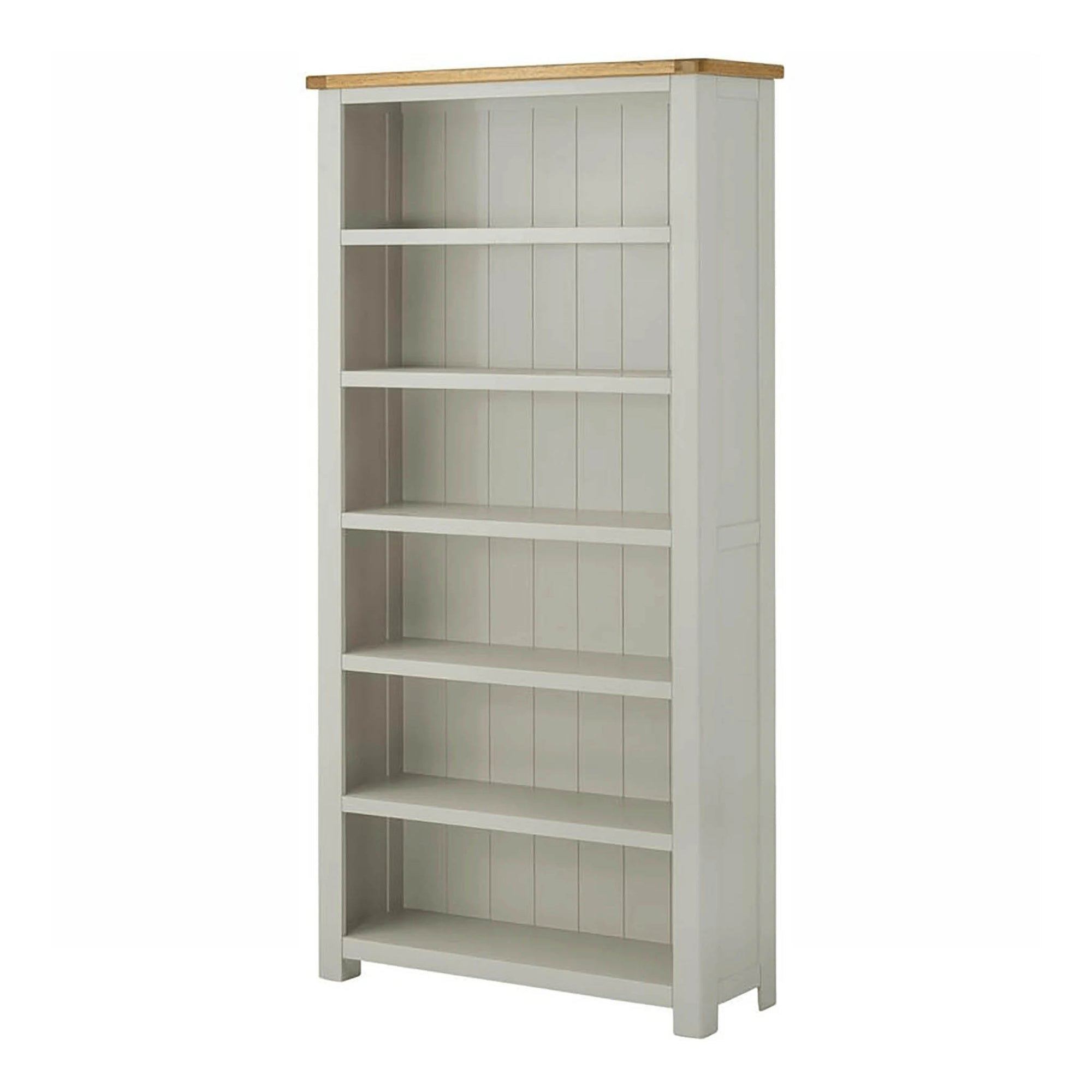The Padstow Grey Large Wooden Bookcase from Roseland Furniture