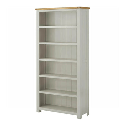 Padstow Stone Grey Large Bookcase