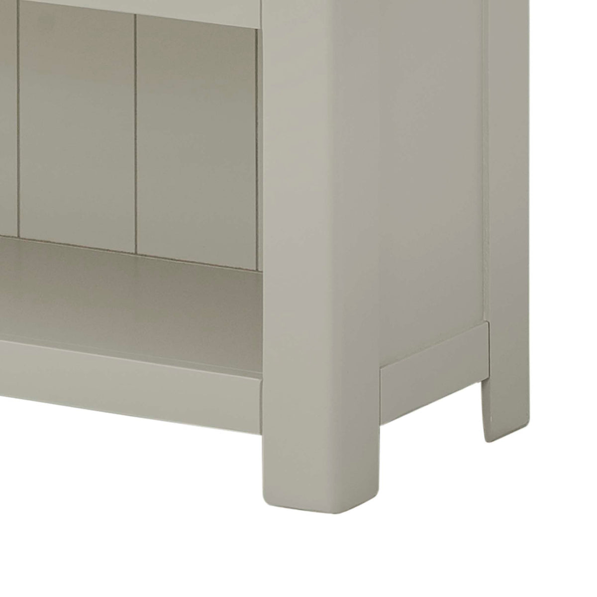 The Padstow Grey 5 Shelf Bookcase - Close Up of Feet