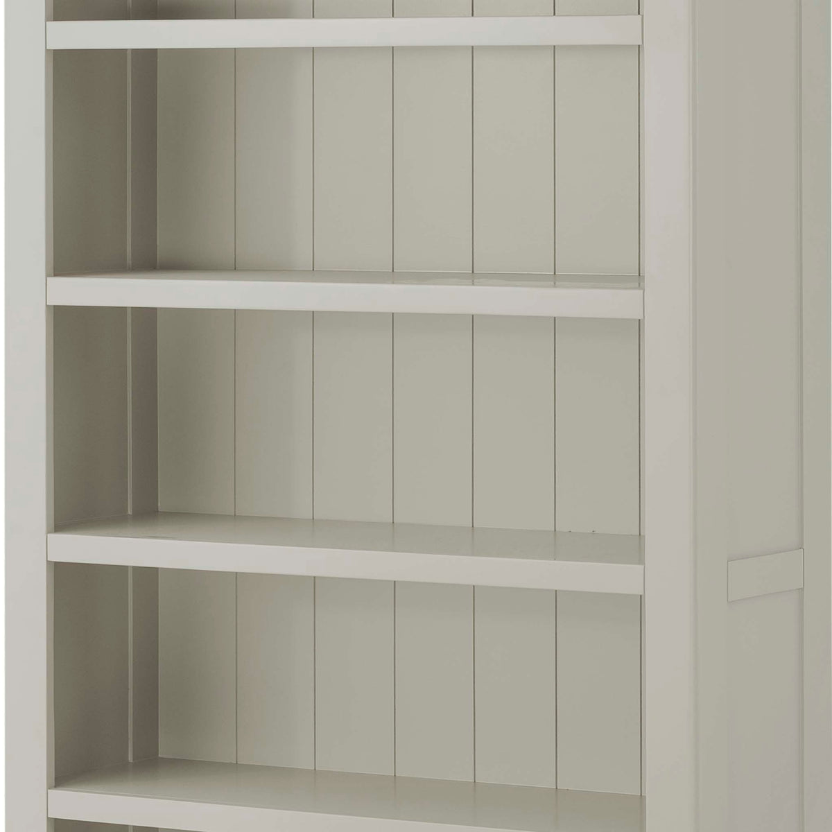 The Padstow Grey 5 Shelf Bookcase - Close Up of Shelves