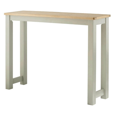 The Padstow Grey Wooden Breakfast Bar from Roseland Furniture