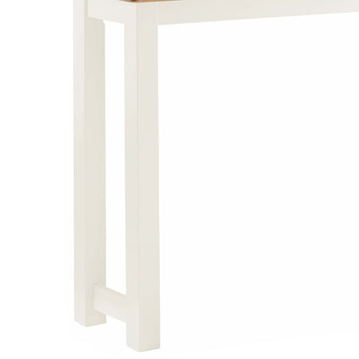 The Padstow White Wooden Breakfast Bar - Close Up Legs