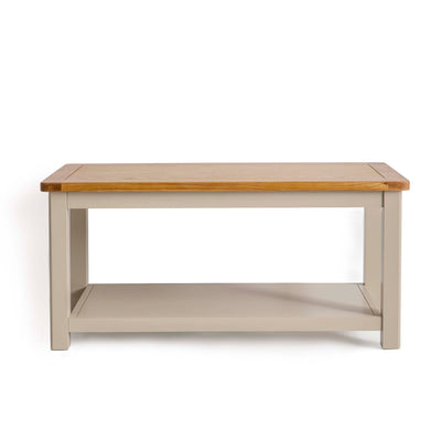 The Padstow Stone Grey Coffee Table by Roseland Furniture