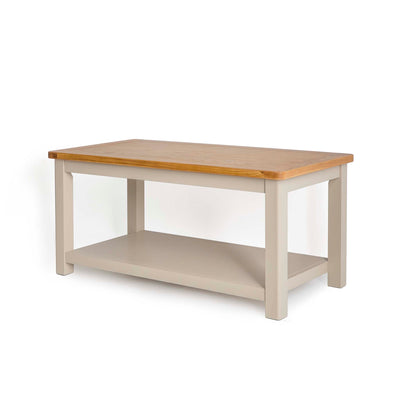 Padstow Stone Grey Coffee Table - Side view