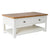 The Padstow White Solid Wood Coffee Table with Oak Top