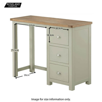 Padstow Grey Dressing Table with Drawers - Additional Sizes