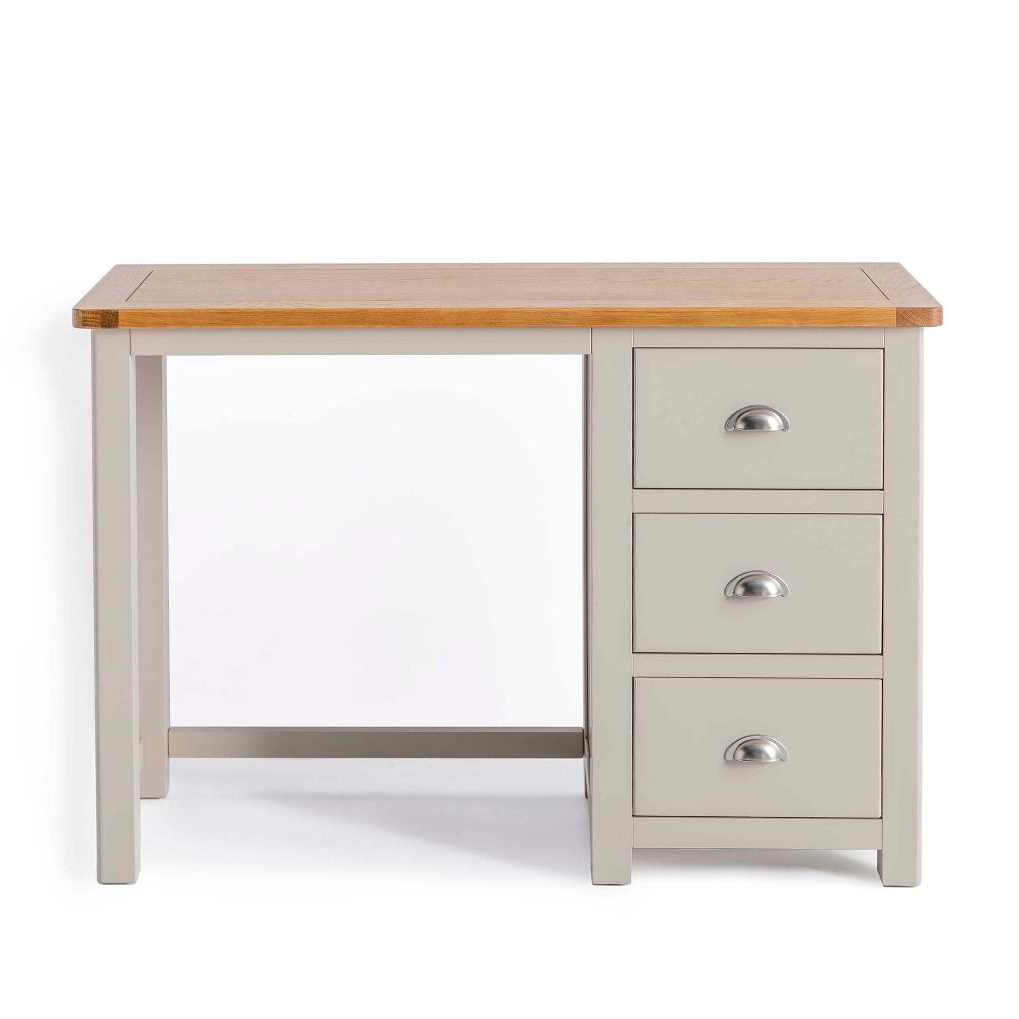 Padstow Stone Grey Small Dressing Table with Drawers by Roseland Furniture