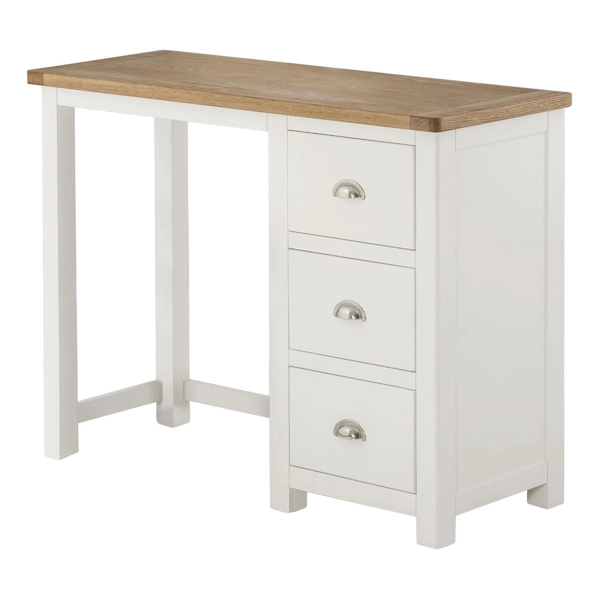 The Padstow White Small Wooden Dressing Table
