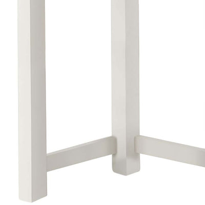 The Padstow White Small Wooden Dressing Table - Close Up of Legs