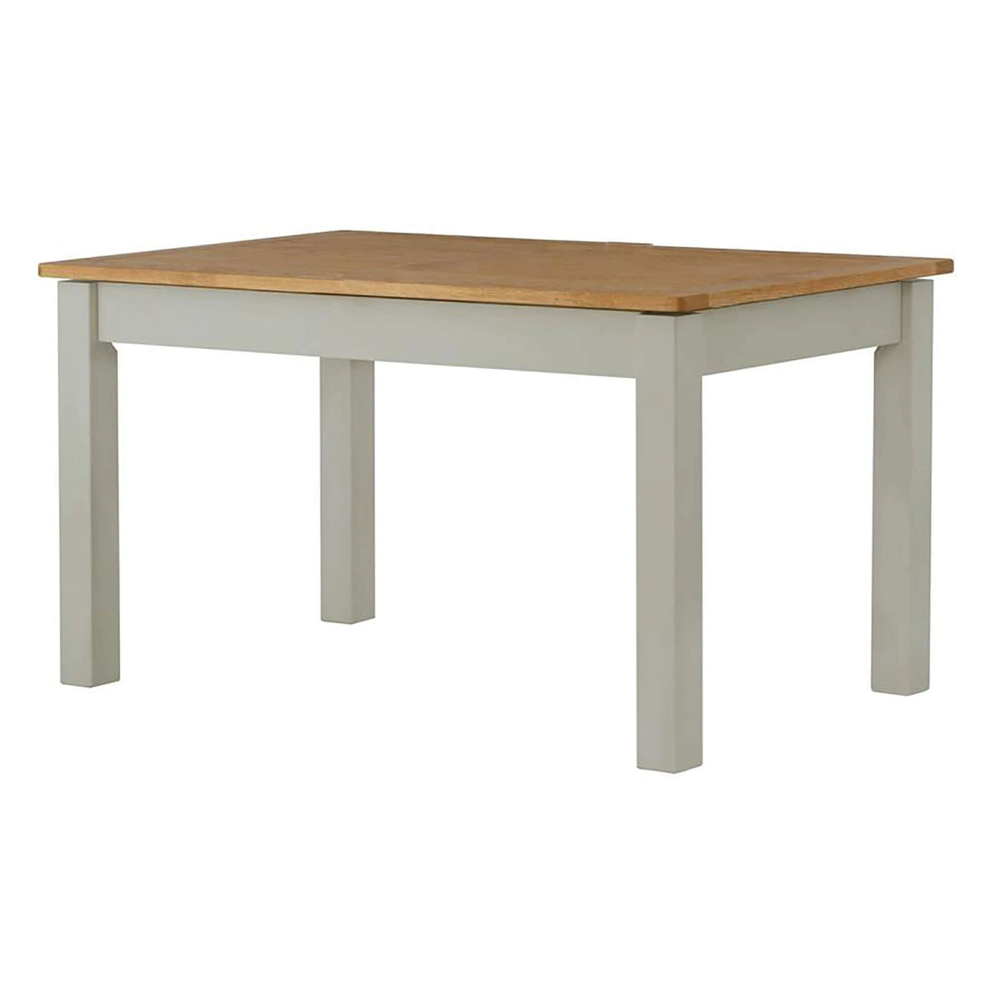 The Padstow Grey Wooden Dining Table with Oak Top 120cm from Roseland Furniture
