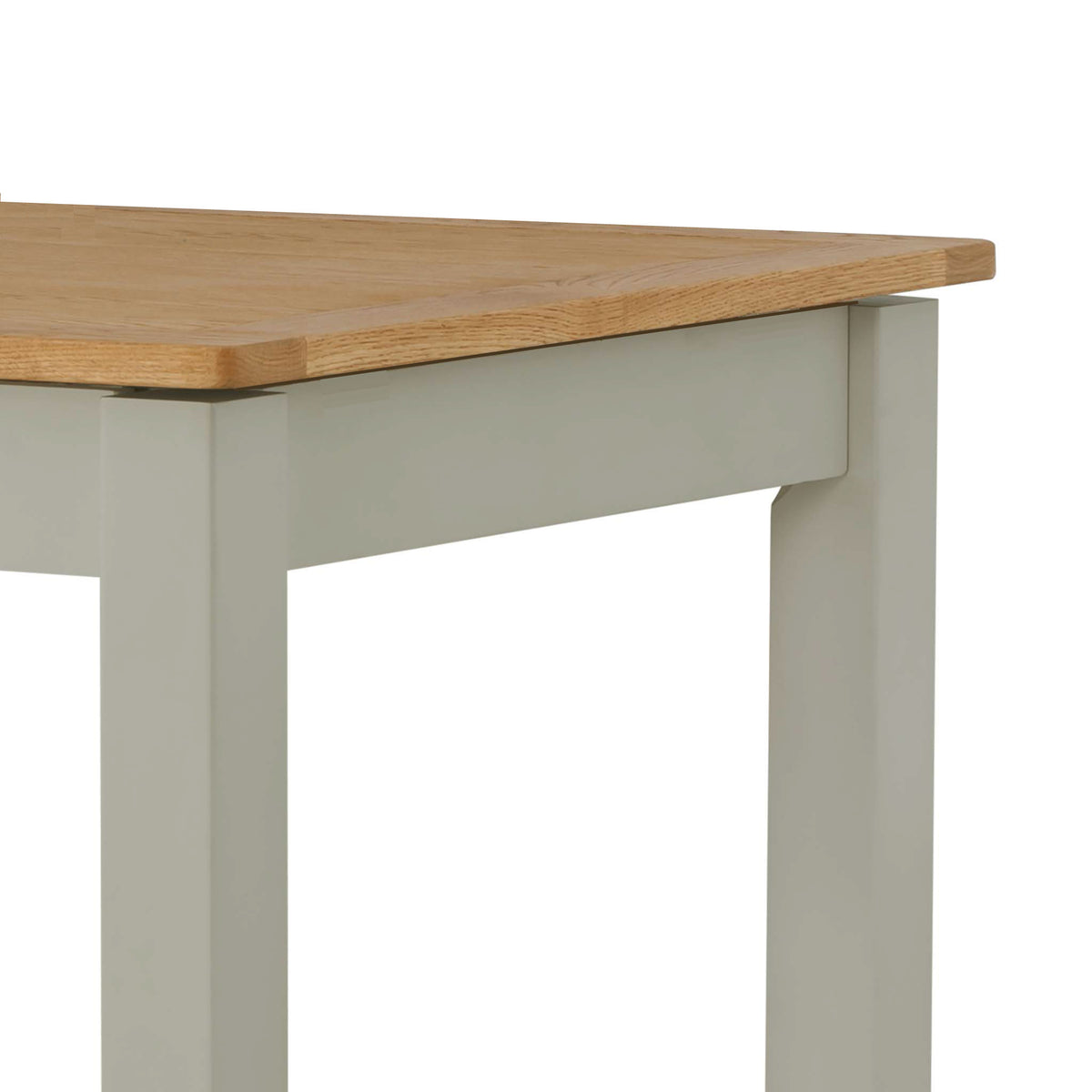 The Padstow Grey 120cm Wooden Dining Table - Part of the Dining Set - Close Up of Oak Table Top