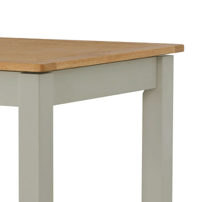 The Padstow Grey Wooden Extendable Dining Table - Close Up