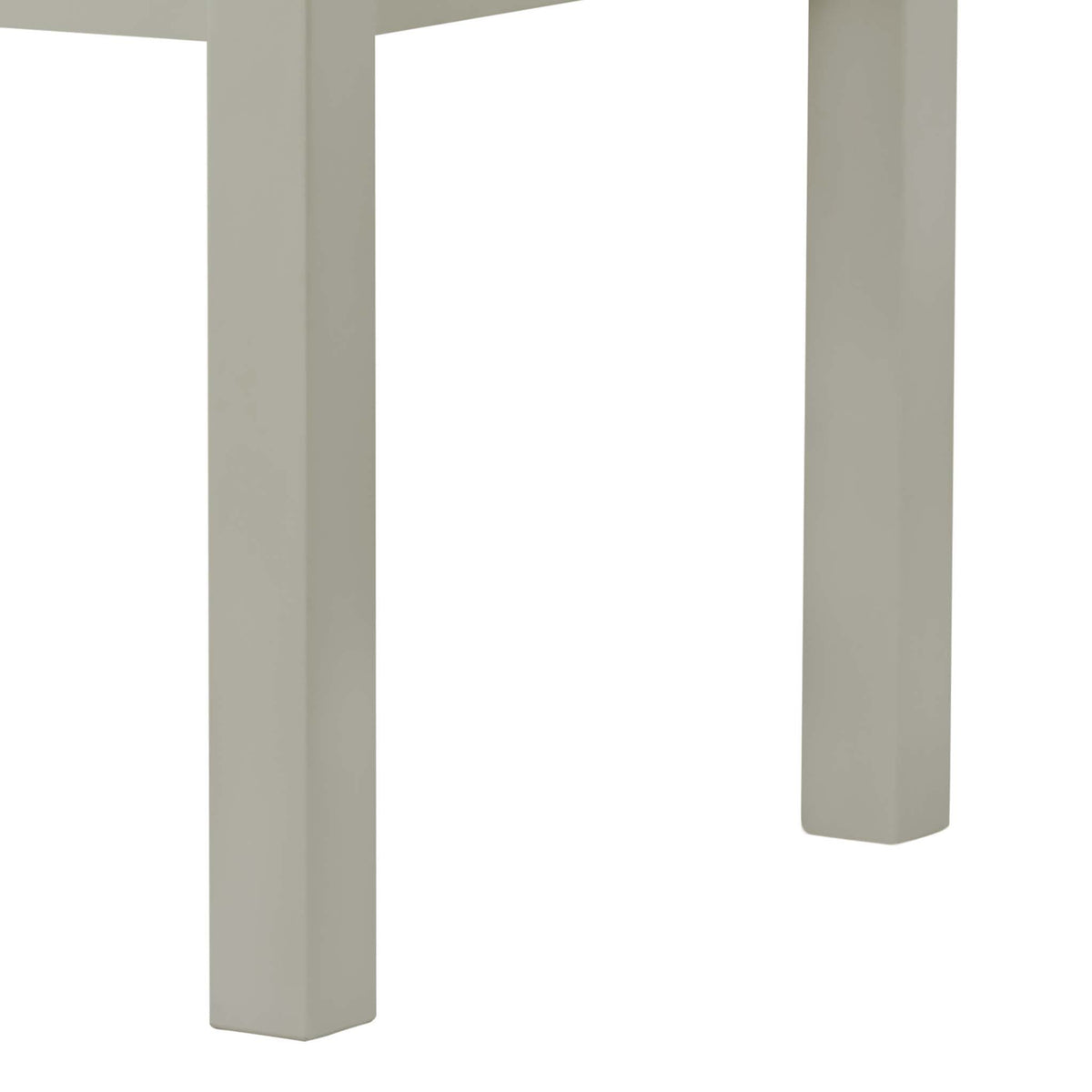 The Padstow Grey 120cm Wooden Dining Table - Part of the Dining Set - Close Up of Table Legs
