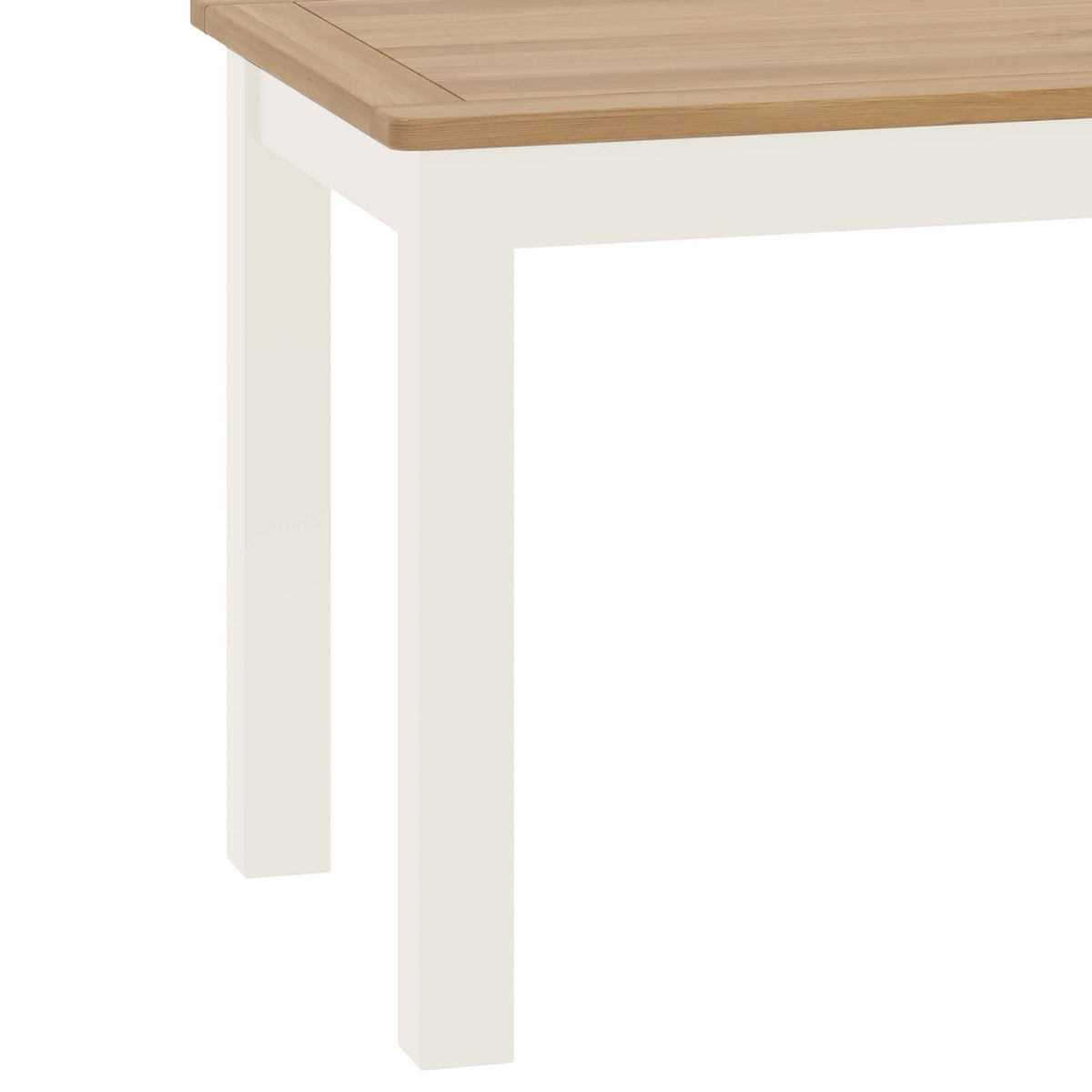 The Padstow White Wooden Dining Table - Close Up of Table Legs