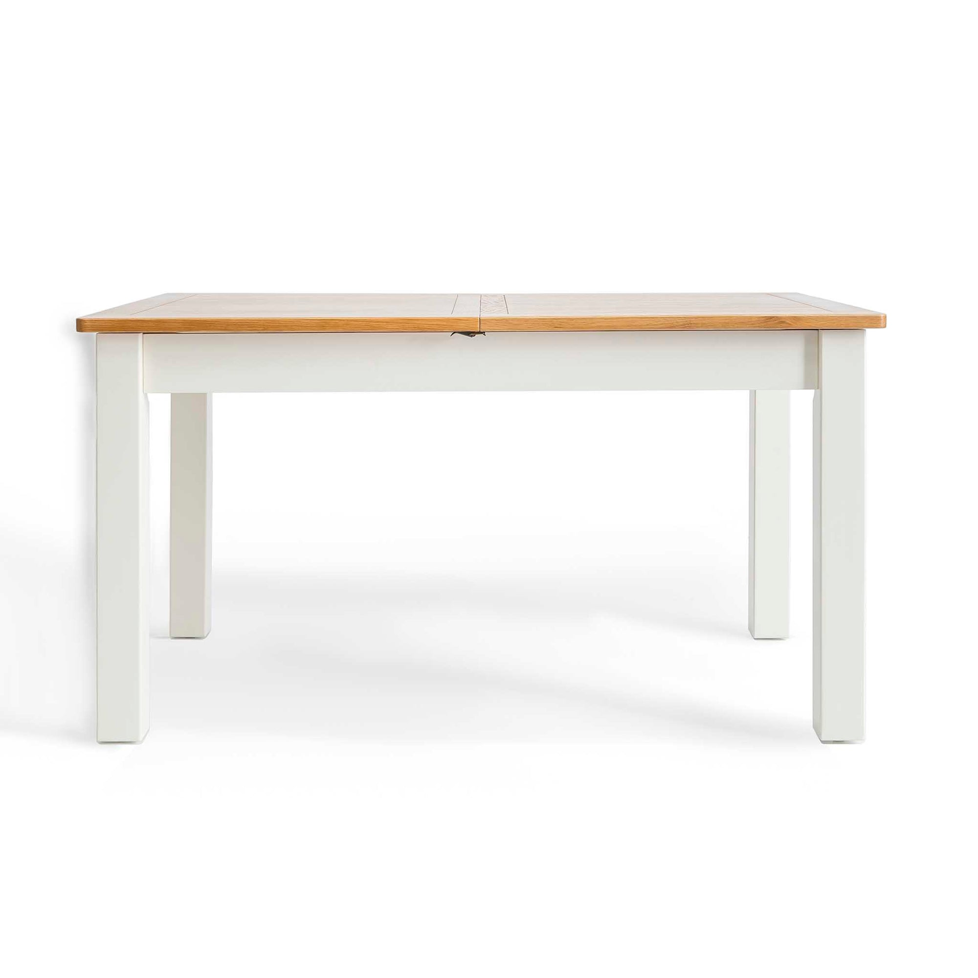 Padstow White Wooden Extending Dining Table by Roseland Furniture