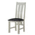 The Padstow Grey Wooden Dining Chair with Padded Seat