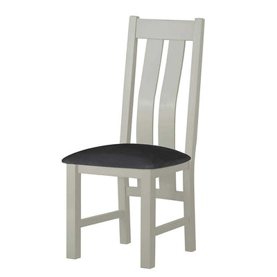 The Padstow Grey Wooden Dining Chair - Part of the Dining Set