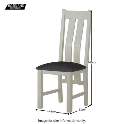 Padstow Stone Grey 120cm Dining Set - 1 x Bench 2 x Chairs