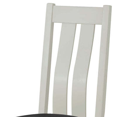 The Padstow Grey Wooden Dining Chair - Part of the Dining Set - Close Up of Chair Back
