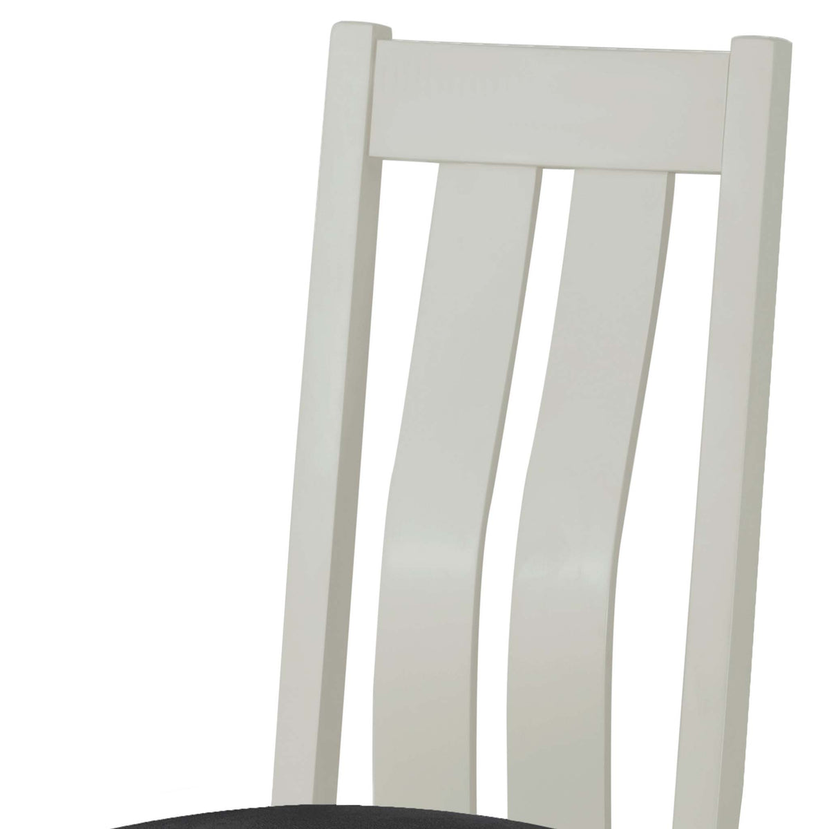 The Padstow Grey Wooden Dining Chair - Part of Dining Set - Close Up of Chair Back