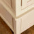 Close up of cross section on the Padstow Cream Wooden 2 Double Wardrobe