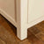 Close up of leg on the Padstow Cream Wooden 2 Double Wardrobe