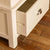Close up of drawer joint on the Padstow Cream Wooden 2 Double Wardrobe