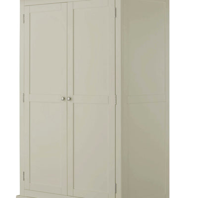 The Padstow Grey Double Wardrobe with 2 Drawers - Close Up of  Wardrobe Doors