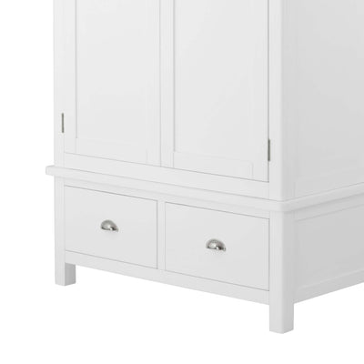 Padstow White Double Wardrobe with Drawers