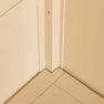 Close up of internal corner on The Padstow Cream Wooden All Hanging Ladies Wardrobe