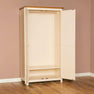 Open door view of the Padstow Cream 2 Door Wardrobe from Roseland Furniture