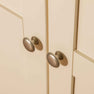 Close up of metal door knobs on The Padstow Cream Wooden All Hanging Ladies Wardrobe