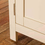 Close up of front leg on The Padstow Cream Wooden All Hanging Ladies Wardrobe