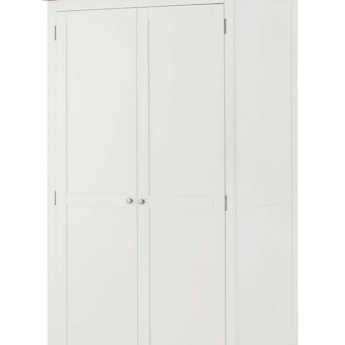 The Padstow White Large Bedroom Wardrobe - Close Up of Doors