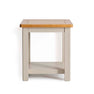 The Padstow Grey Small Wooden Side Table from Roseland Furniture