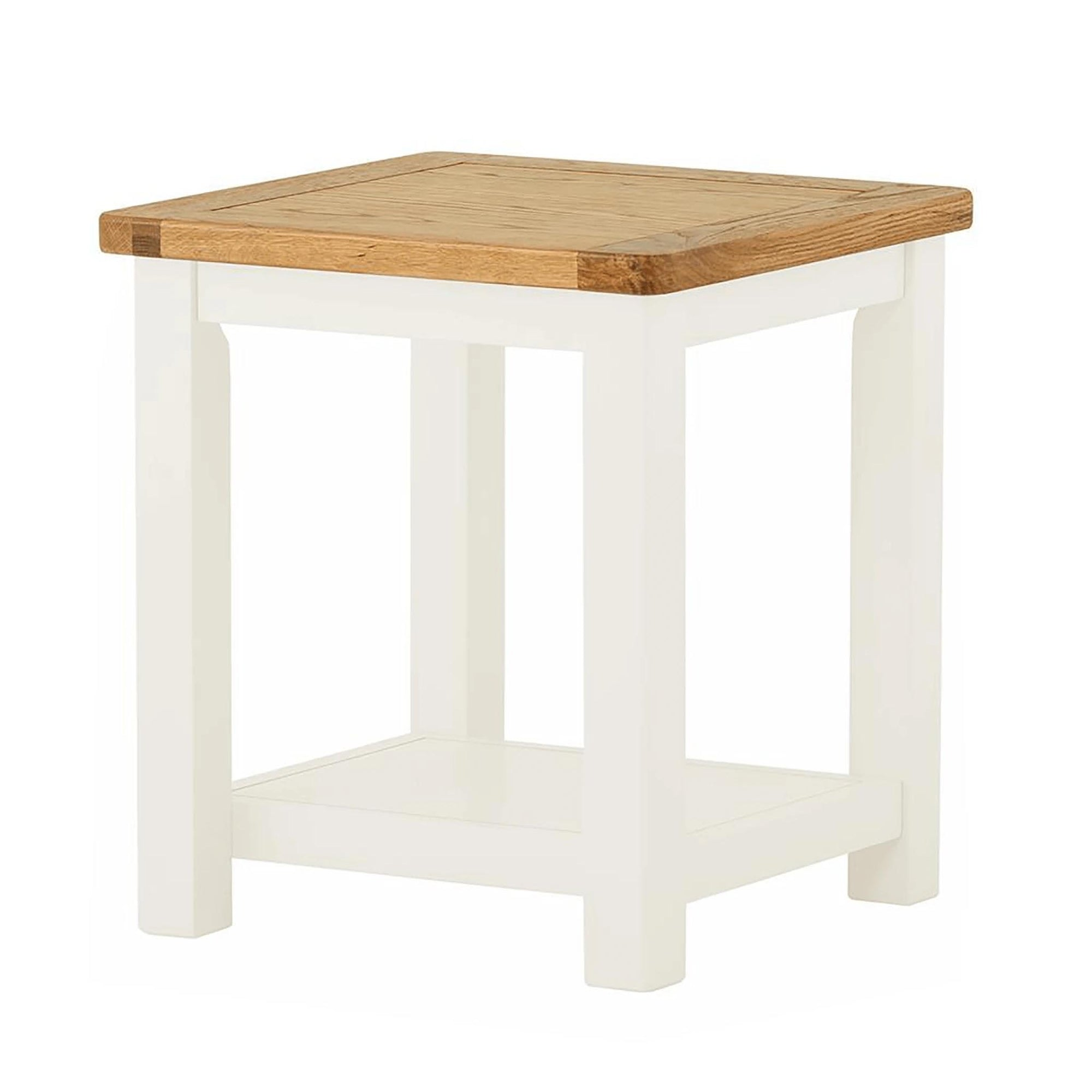 The Padstow White Small Wooden Side Lamp Table from Roseland Furniture