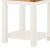 The Padstow White Small Wooden Side Lamp Table - Close Up of Lower Shelf and Legs