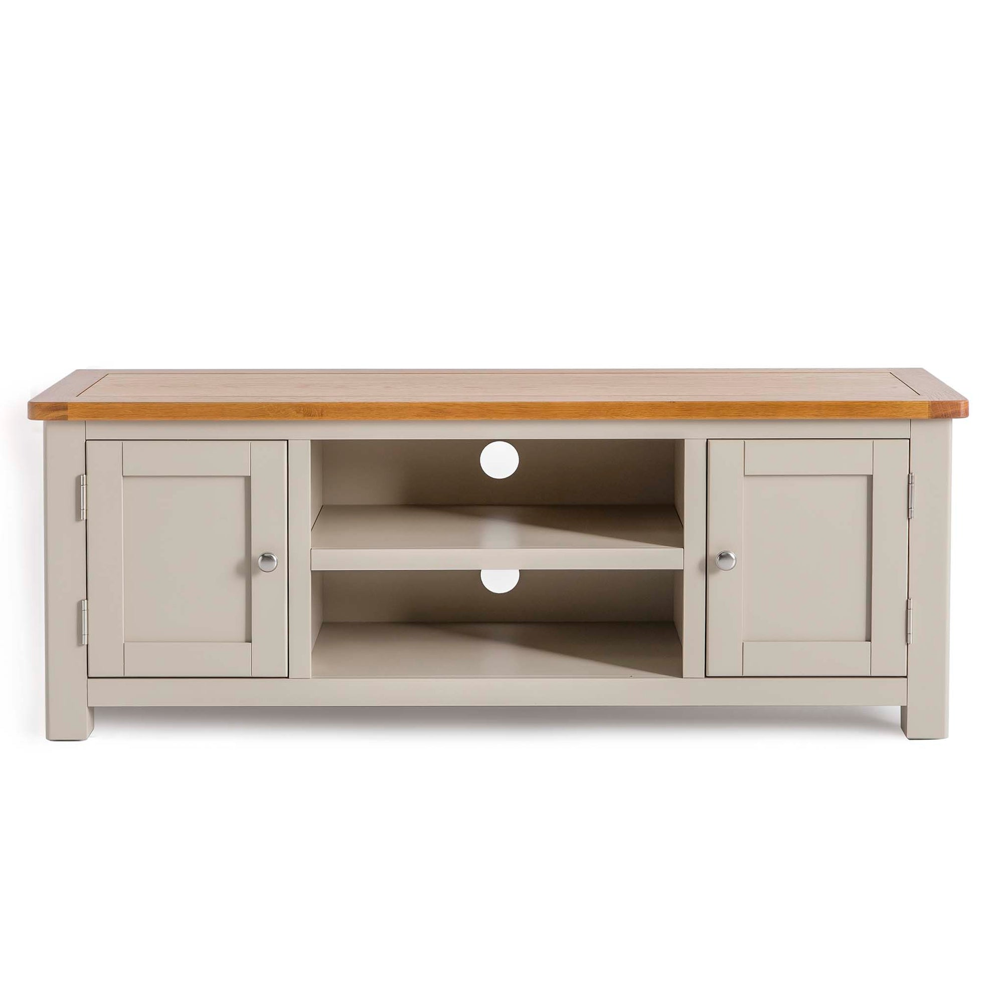 Padstow Stone Grey Large 130cm TV Stand & Storage by Roseland Furniture