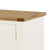 The Padstow White 94cm TV Stand - Close Up of Oak TV Stand Top