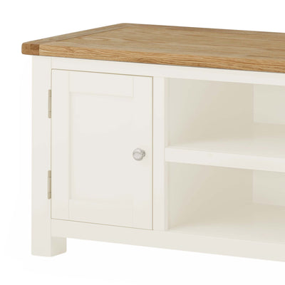 The Padstow White 94cm TV Stand - Close Up