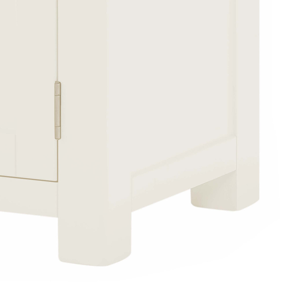 The Padstow White 94cm TV Stand - Close Up of Feet
