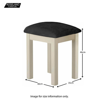 Padstow Cream Dressing Table Stool - Size Guide