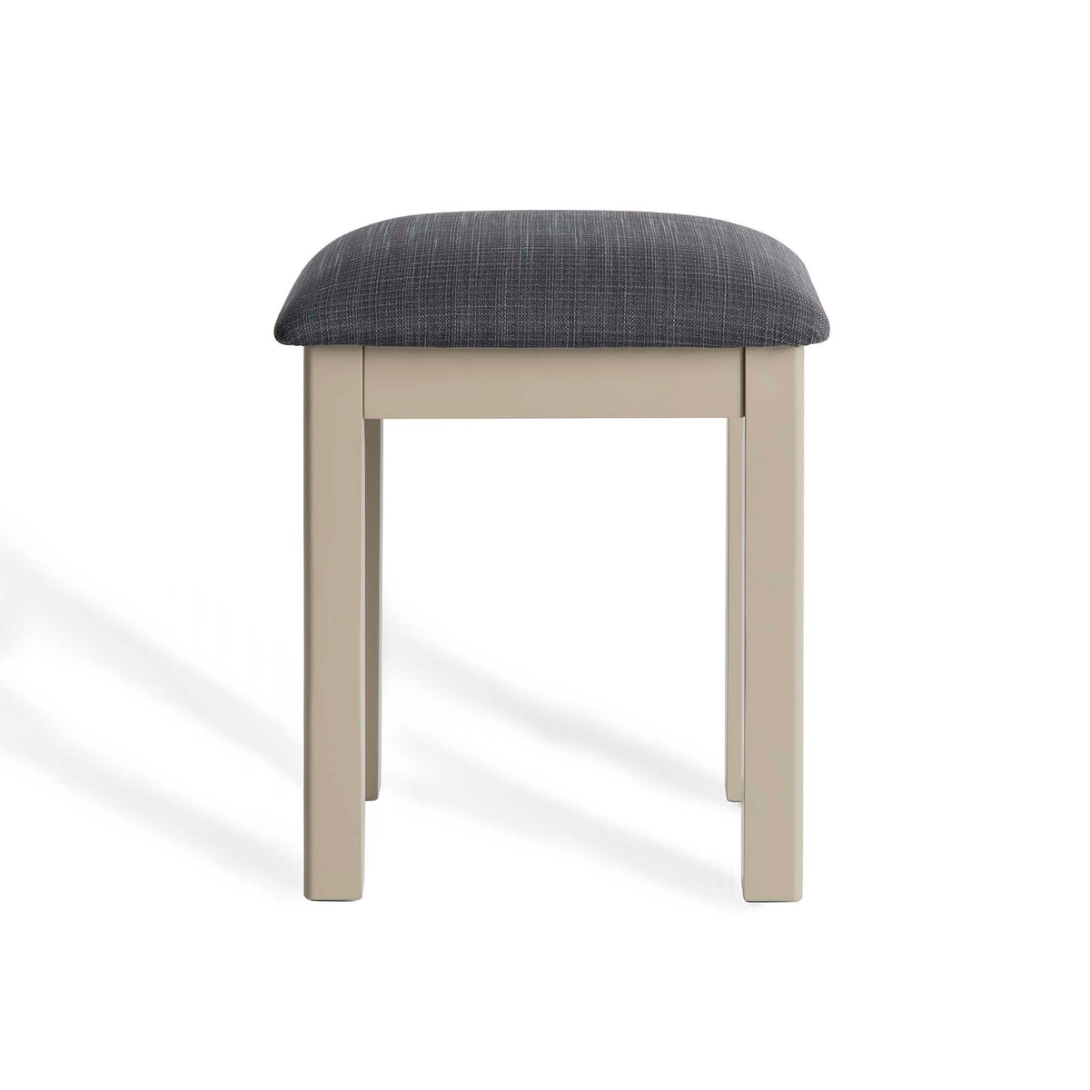 The Padstow Stone Grey Stool by Roseland Furniture