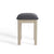The Padstow Stone Grey Dressing Table Stool  -  Side on View