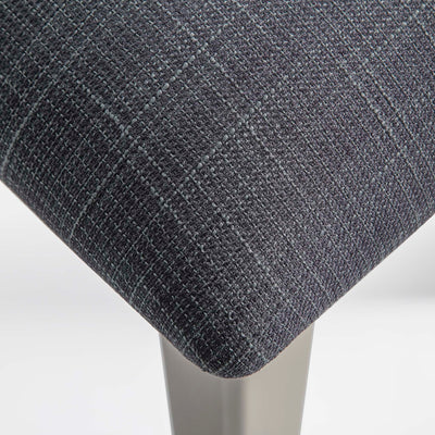 The Padstow Stone Grey Dressing Table Stool  - Close up of Seat Pad